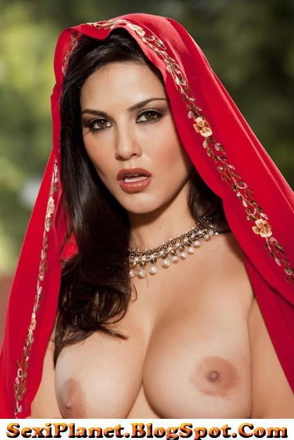 Hot And Spicy Pics Sunny Leone Pleted Nude In Red Sari