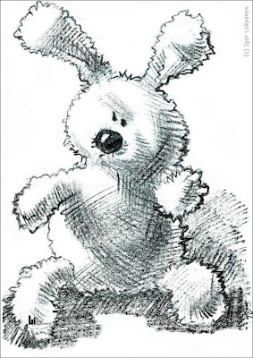 stuffed toy animal sketch (bunny, rabbit)