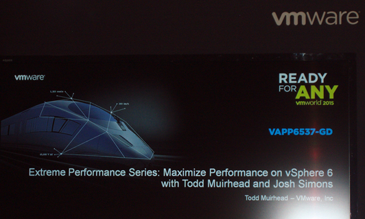 VMWorld 2015 Barcelona Performance