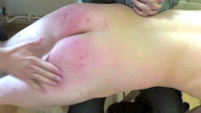 Liam extreme male spanking movie! Deep Heat rubbed on bottom!