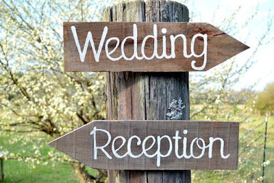 rustic wedding reception sign