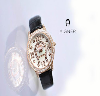 jam tangan keren AIGNER 88040 BLACK