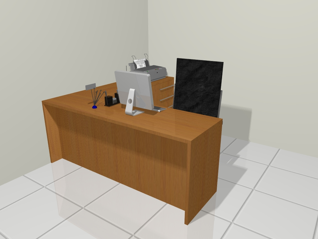 Modulê Moveis Planejados: Mesa em L para Recepção #100979 1024x768