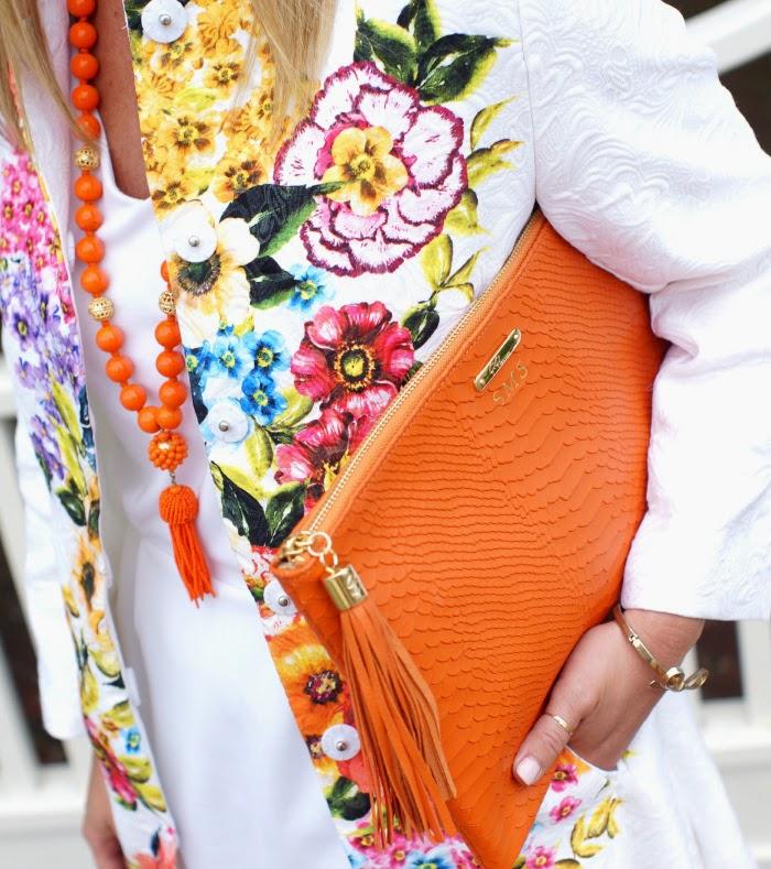 gigi new york orange handbag