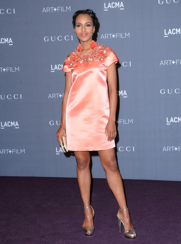 Kerry Washington at LACMA Art+Film Gala 2012 red carpet