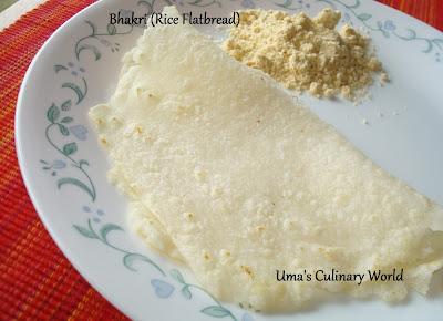 konkani rice bhakri