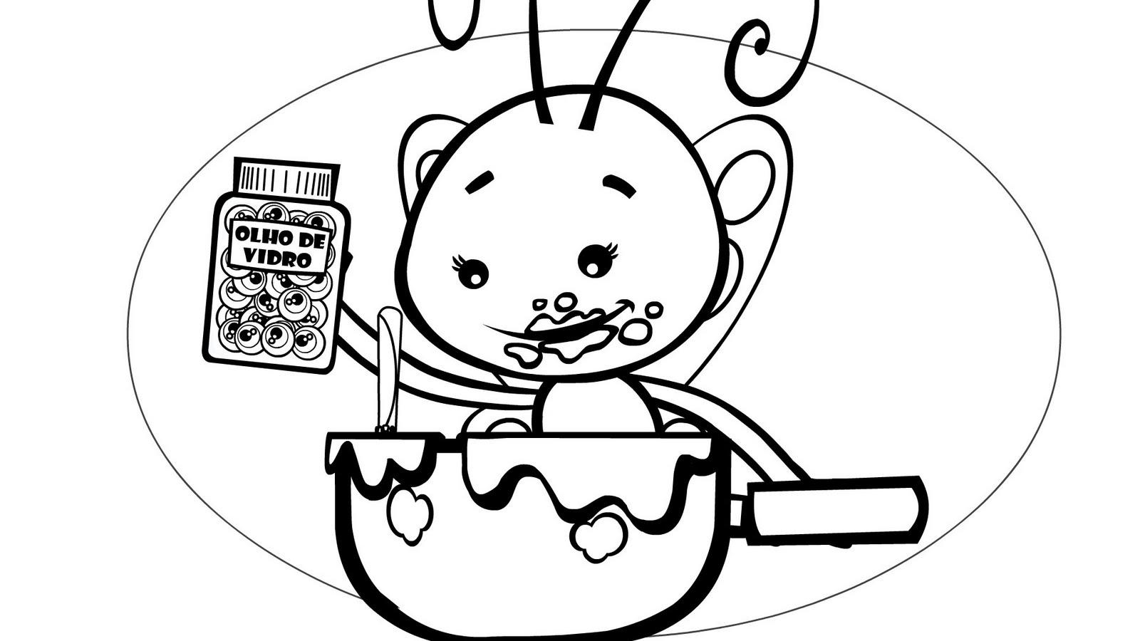 Borboletinha T Na Cozinha Para Colorir Oppenau Info