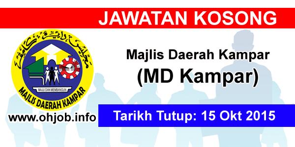 Jawatan Kerja Kosong Majlis Daerah Kampar (MDKampar) logo www.ohjob.info oktober 2015