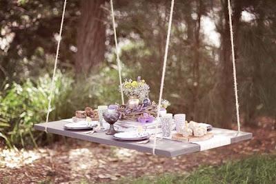 Podwieszany stolik piknik letnia dekoracja stołu DIY Eco Manufaktura