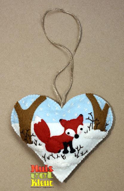 huisvolkleur winter hartje vos