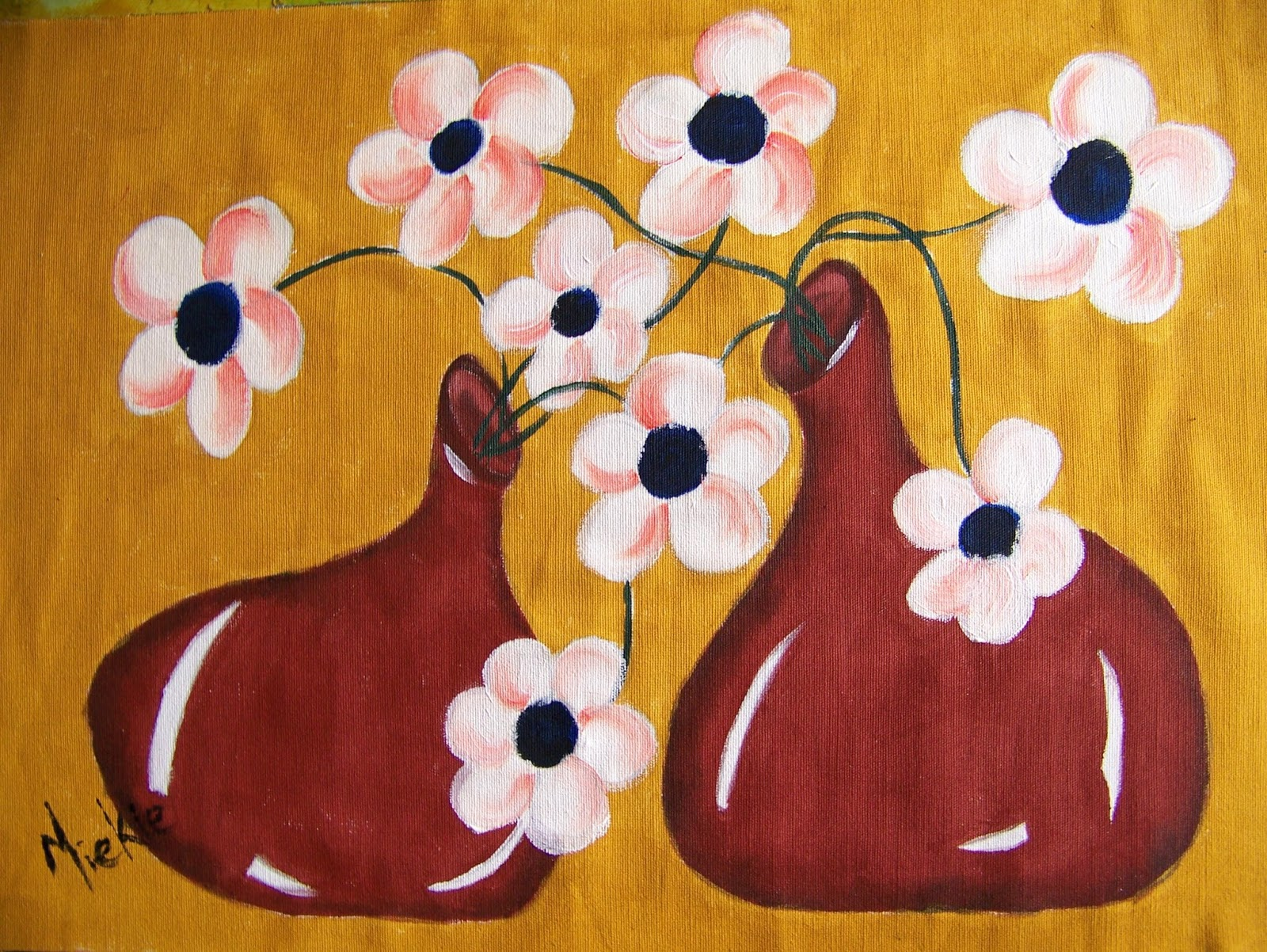 A Pretty Talent Blog Flower Pots Fabric Painting Part 1 Of 2