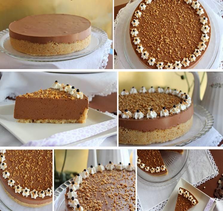 torta fredda al cioccolato e noci (clicca e condividi)