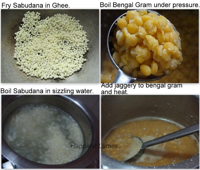 Sabudana Bengal Gram Payasa Recipe+desert