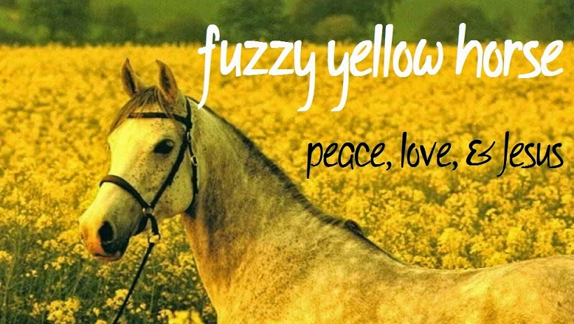 fuzzy yellow horse