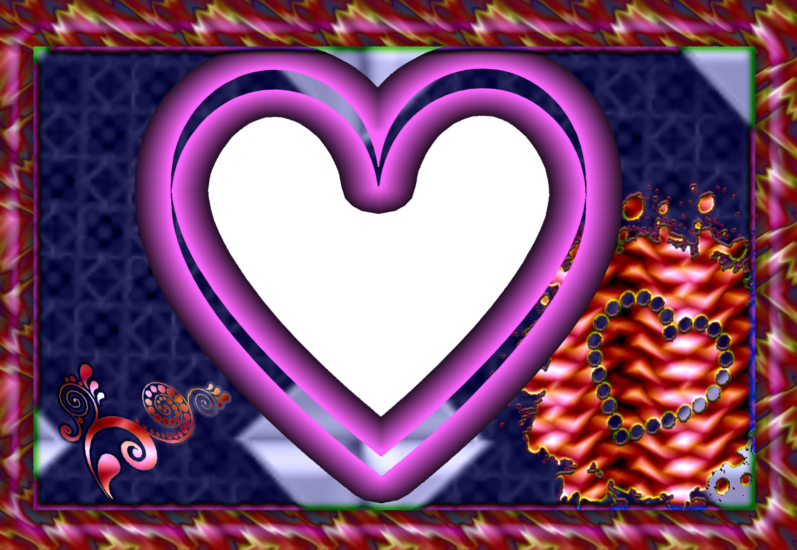WALPEPAR: My Heart PNG 3 Frame