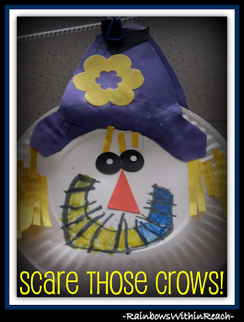 photo of: Scare those Crows: Scarecrows in Kindergarten Craftivity via RainbowsWithinReach