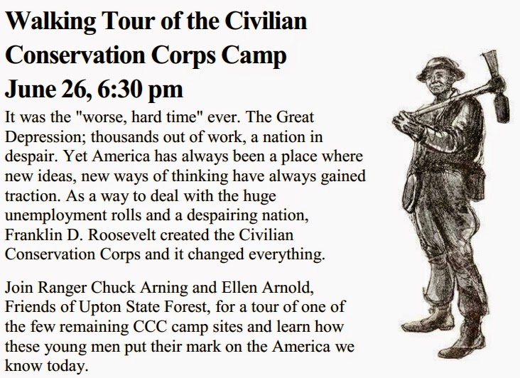 walking tour of the civilian conservation corps camp