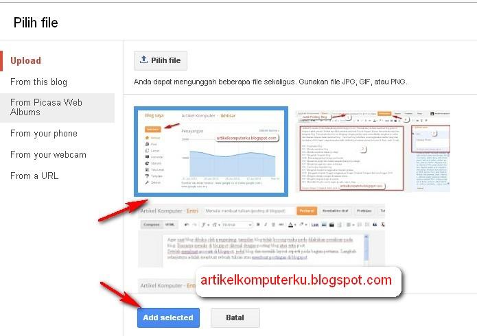 posting blogger