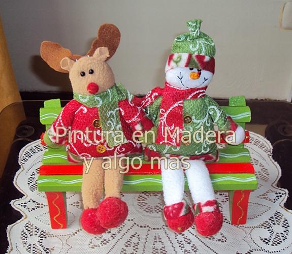 Pintura en madera y algo mas adornos de navidad - Adornos navidenos de madera ...