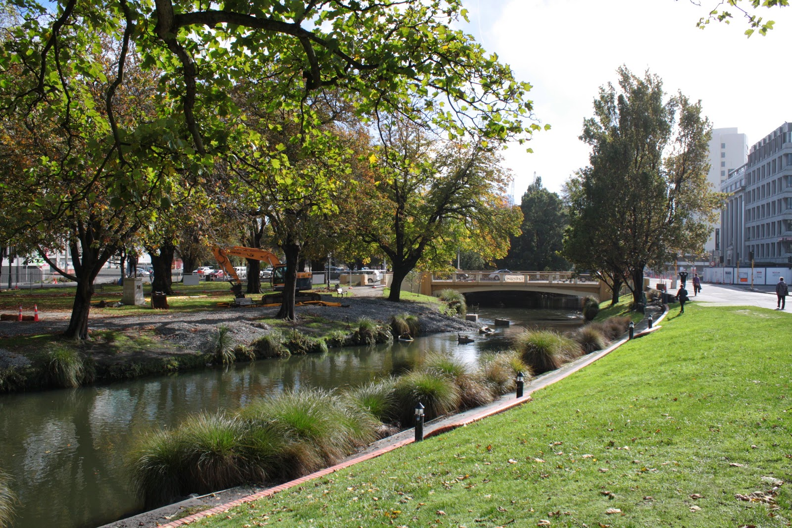 The Avon River, Christchurch, almost recovered.