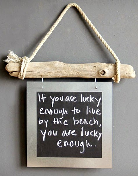 Driftwood Sign with Chalkboard Frame
