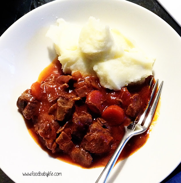 Beef Bacon and Tomato Slow Cooker Casserole © www.foodbabylife.com