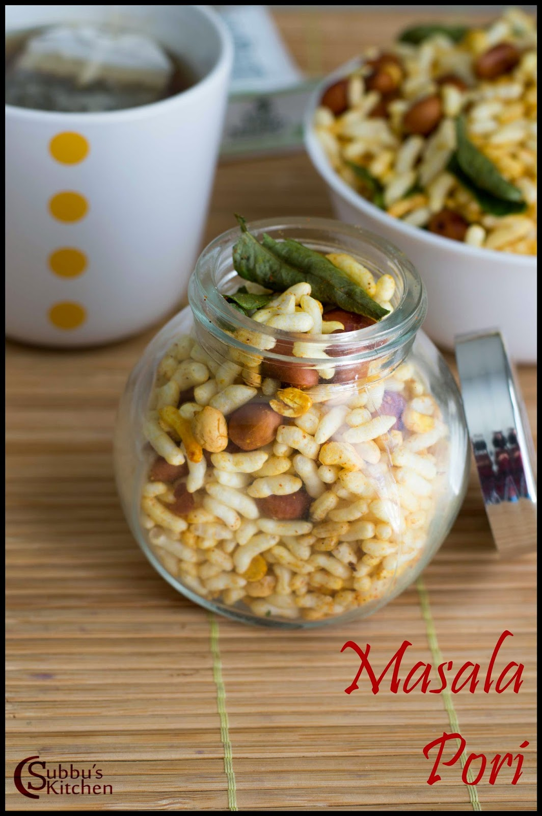 Masala Pori Recipe | Spicy Puffed Rice Recipe