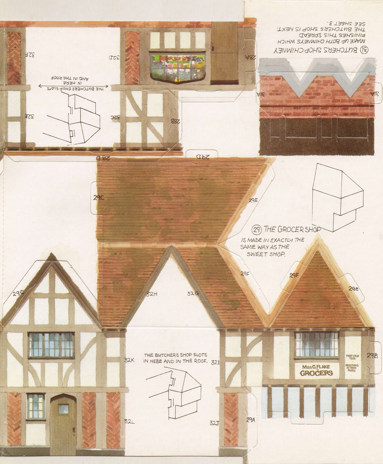 Kelloggs UK Paper Village Sheet 2 Pt 1