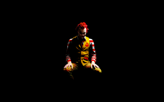 The Joker with McDonalds Costume in Dark HD Wallpaper