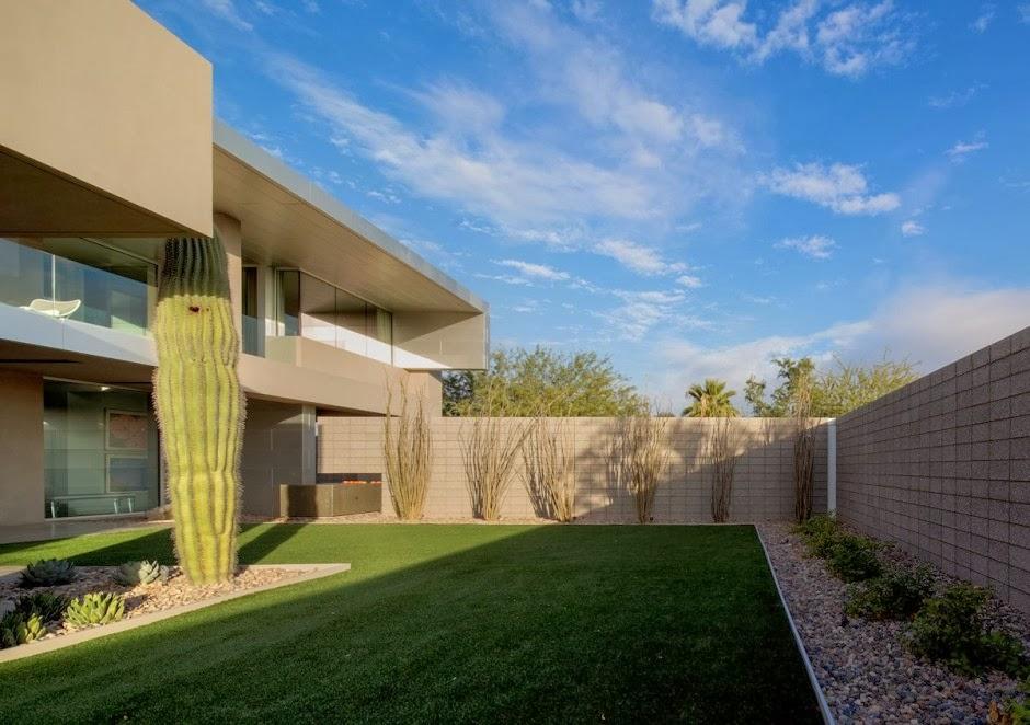 Casa moderna birds nest dise o de brent kendle en for Patios de casas modernas con piscina