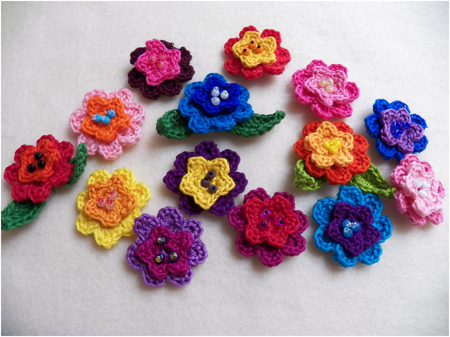 Art threads monday project crocheted may flowers