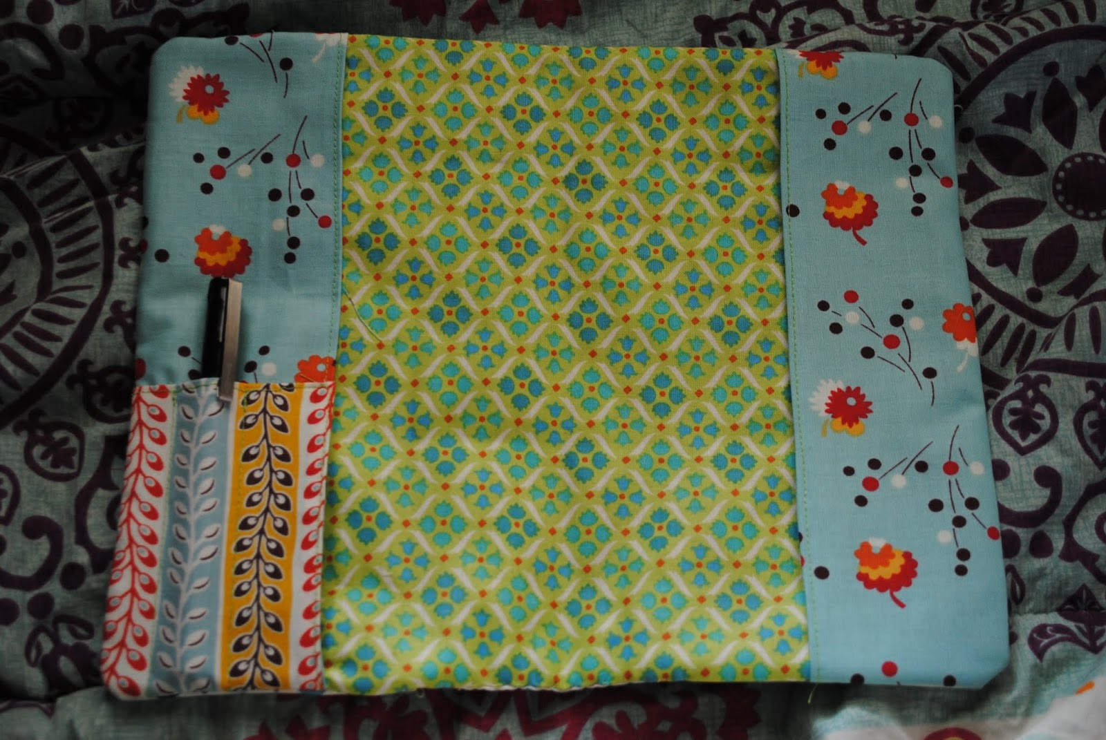 flea market fancy notebook cover- open