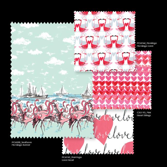 http://www.michaelmillerfabrics.com/shop/collections/flamingo-love.html