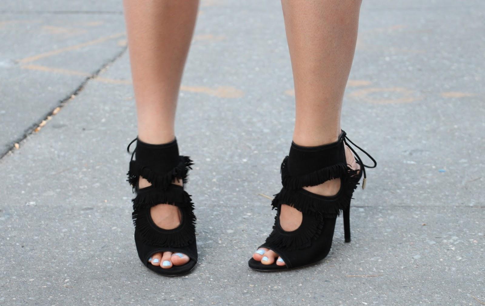 aquazzura fringe heels