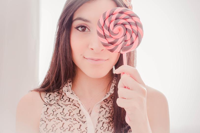 lollipop girl garota pirulito