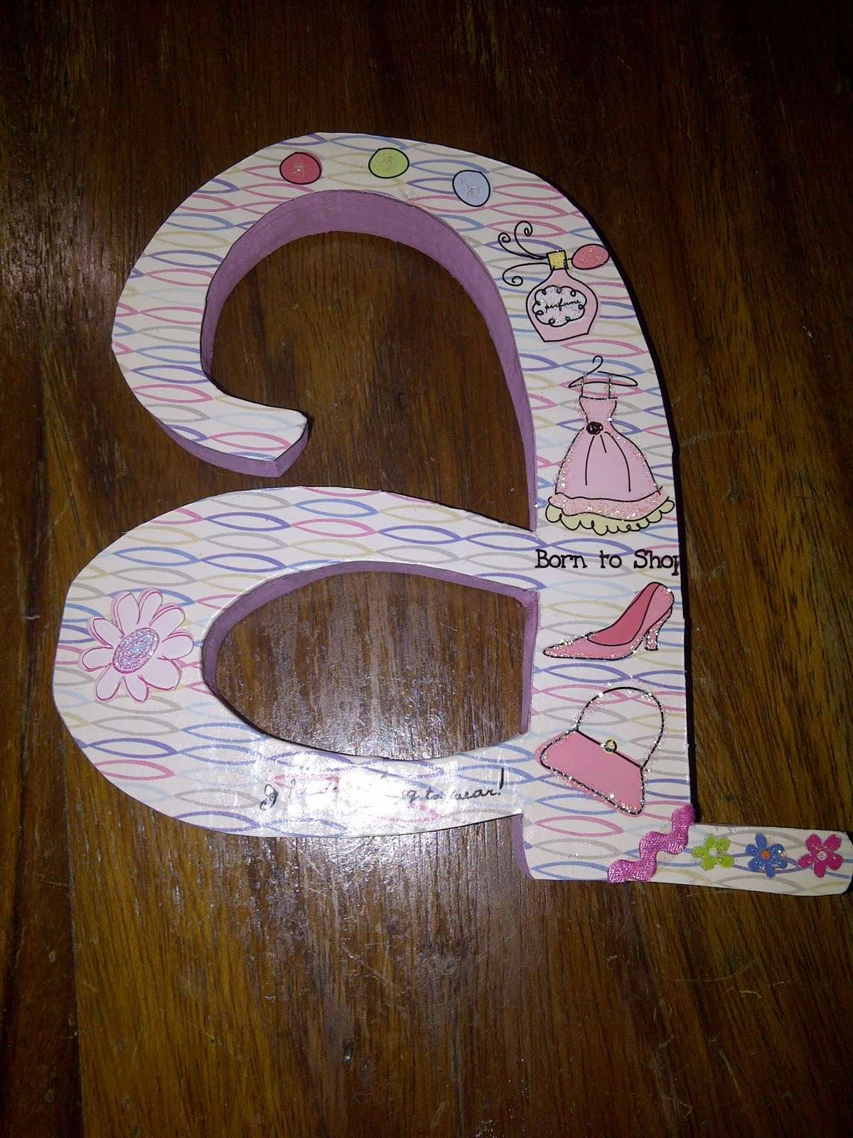 Lucky Girl Diy Decorate Wooden Letters Part Ii