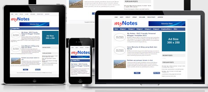 My Note Simple Responsive Super Fast Loads Template 2015