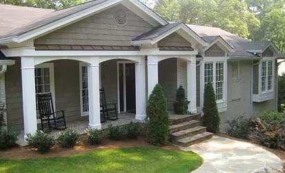 Front Porch Ideas For Ranch Style Homes - Porch Styles For Ranch Homes