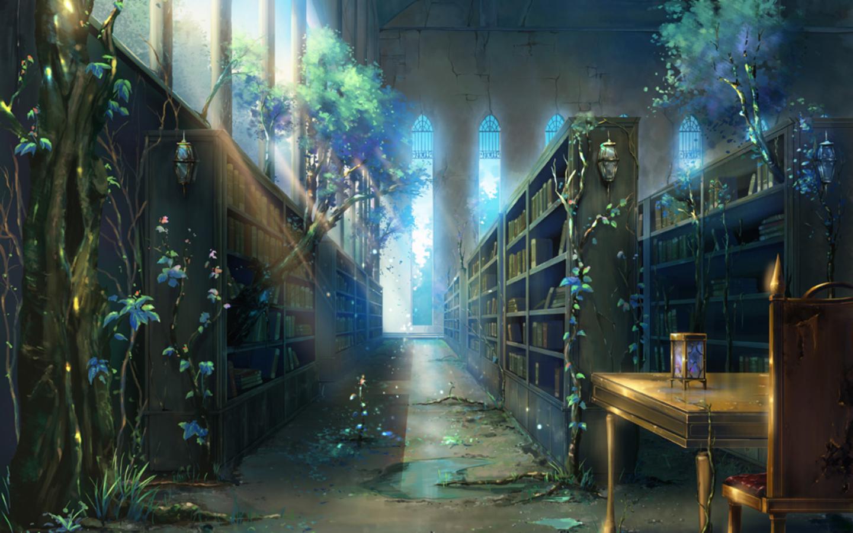 Fantasy Library Wallpaper Todos os direitos reservados Fantasy Library ...