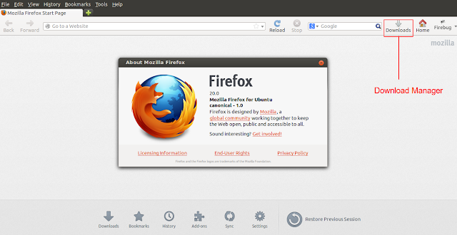 install firefox 20 in Linux Mint