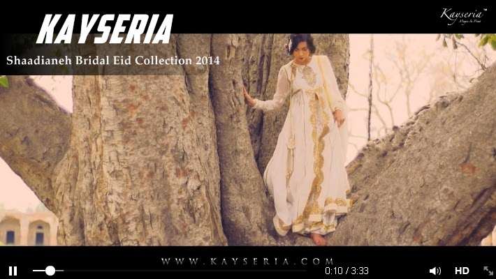 Kayseria Shaadianeh Bridal Eid Collection 2014 Video Commercial