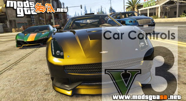 V - Mod Car Controls (Controle do Carro) V3.0 para GTA V PC