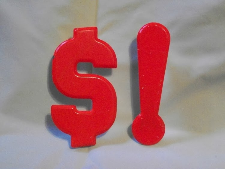 vintage metal letter and numbers, sign boards