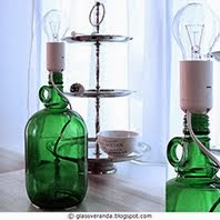 Lampe av vinflaske - Lamp made of wine bottle