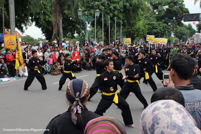malioboro pencak festival aksi pesilat