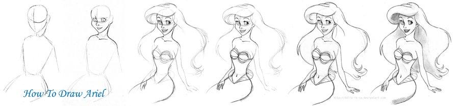 Draw.Draw.Draw: How Draw Ariel(как нарисовать Русалку)