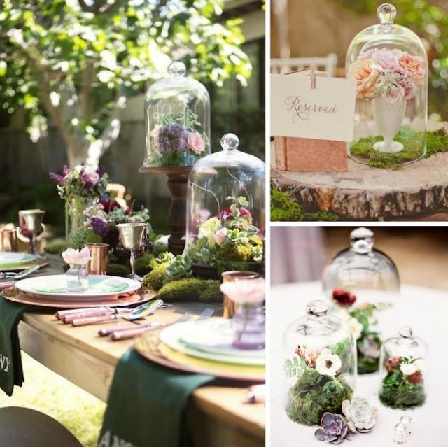 Decoracion de bodas con terrarios en campana - Blog Mi Boda