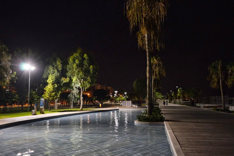 Limassol night next to the coast road. This was next to the beach. Very nice place to walk around.