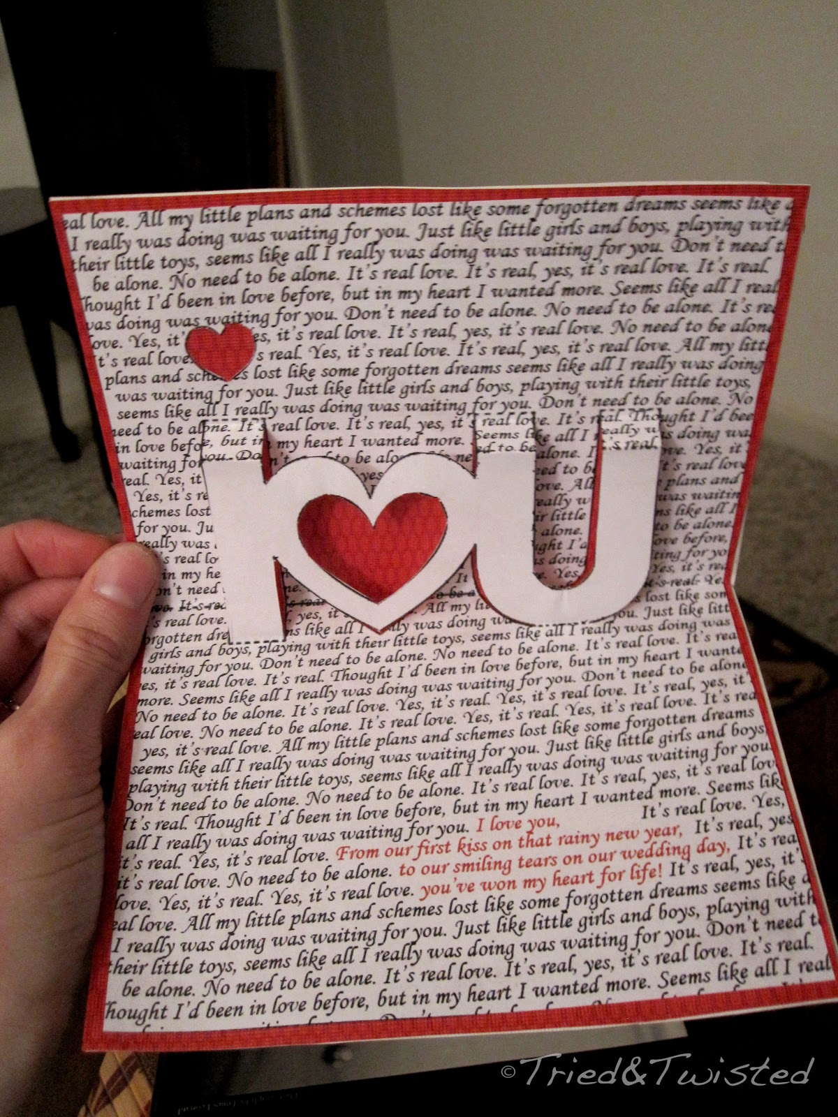 Tried and twisted pop up valentine 39 s day card for Twisting hearts pop up card template