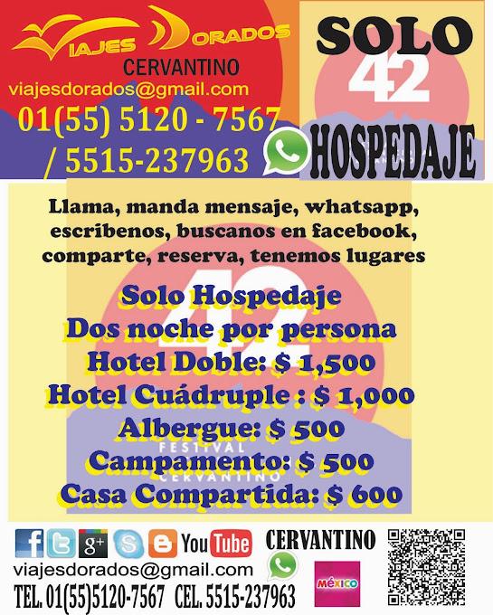 Hospedaje y Tours al Cervantino 2014